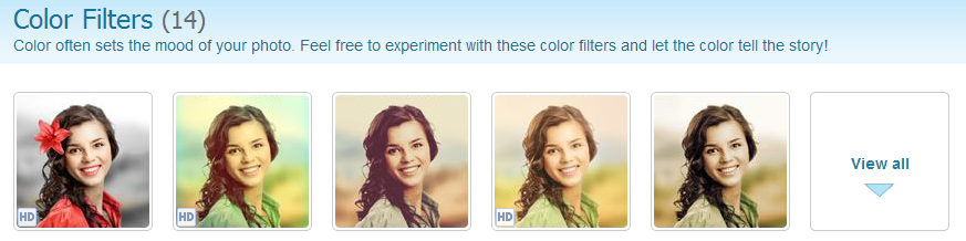 Color Filters group on Pho.to