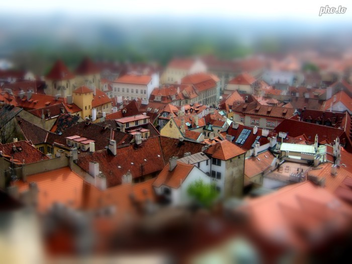 An example of photograph with tilt shift effect