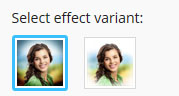 Types of vignetting photo effects on Pho.to