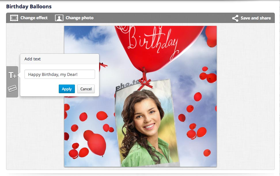 How to make birthday greeting cards. Adding custom text to a birthday card online.