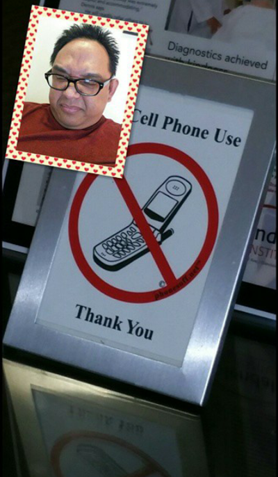 No cell phone at the doctor's office. Bad!