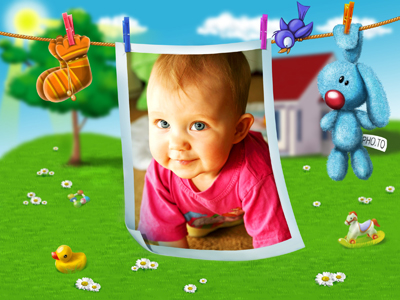 Baby photo frame for Children's Day