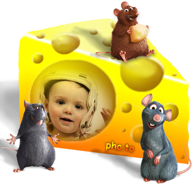 Children photo frame with Ratatouille characters