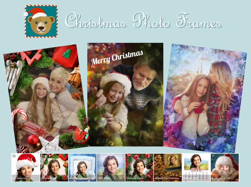 The free Xmas frames app brings Christmas to your pictures!