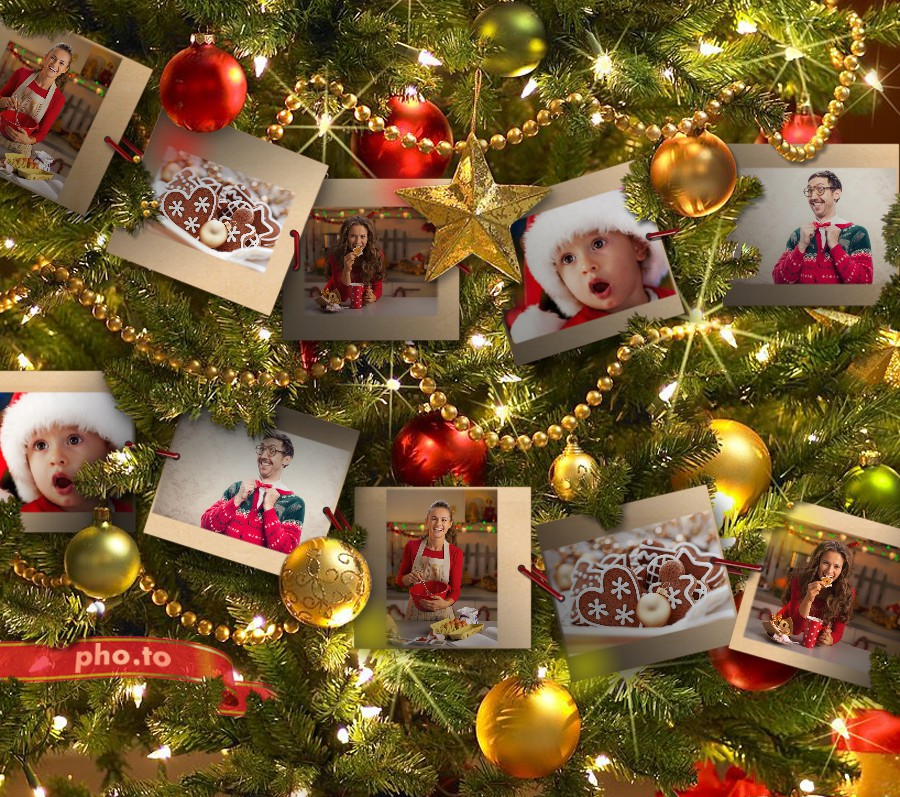 Christmas photo frame for many holiday photos
