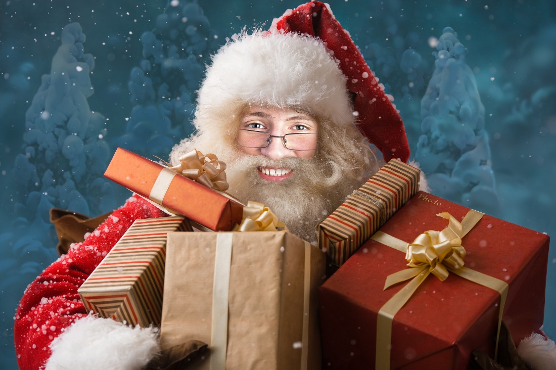 Turn yourself into a photorealistic Santa with this holiday face montage