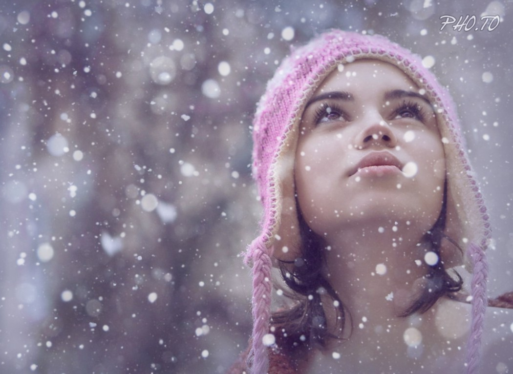 Add the snow bokeh photo effect to winter photos online