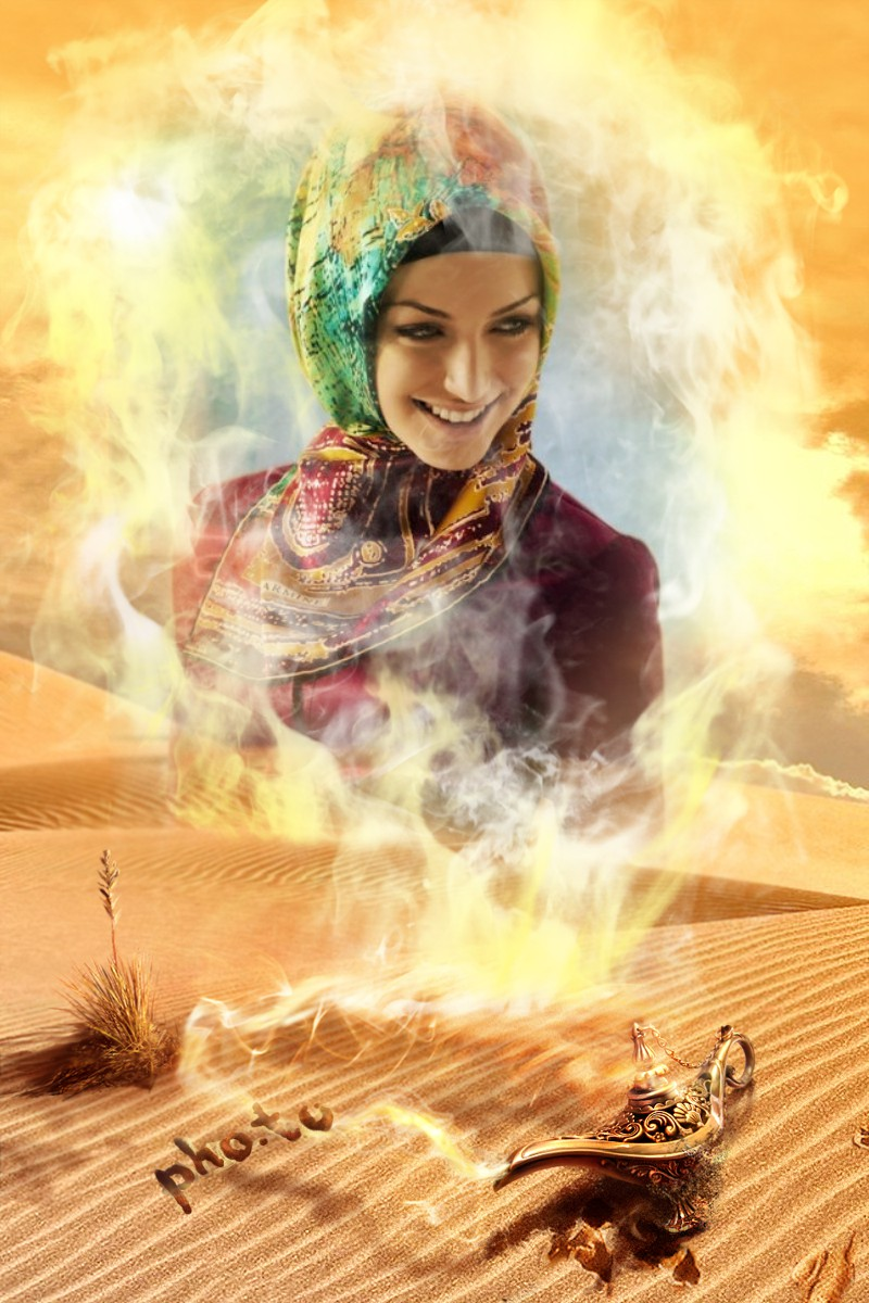 Become a real djinn with this face photo montage