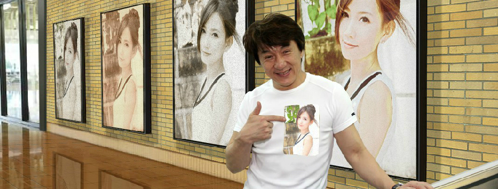A fun photo montage with Jackie Chan