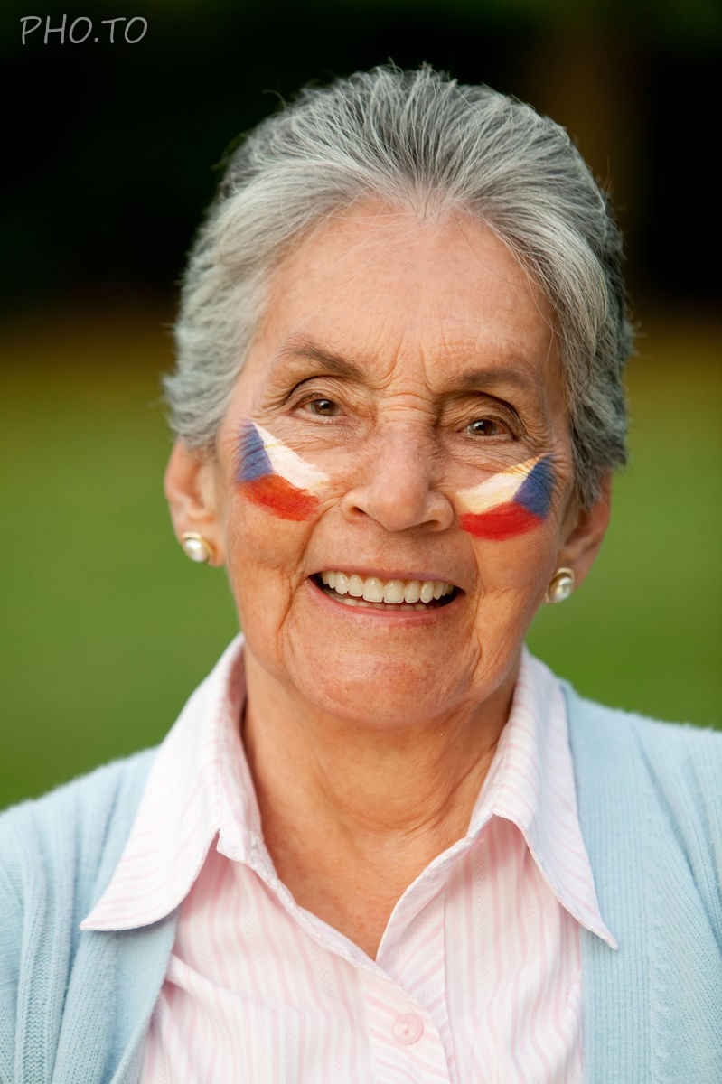 Put on virtual face paint with flag of Czech Republic