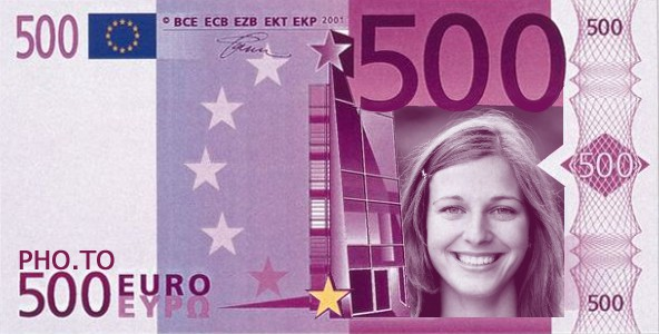 Put your face into the euro bill online and for free