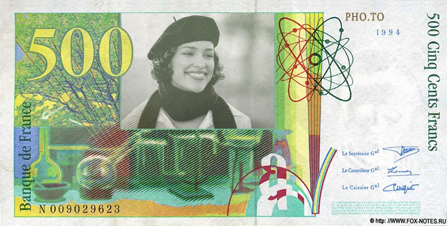 Put your face into the french franc bill online and for free