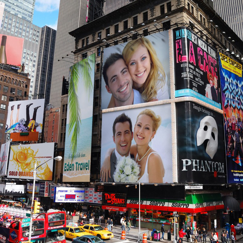 Get on Times Square billboards with this free online photo montage