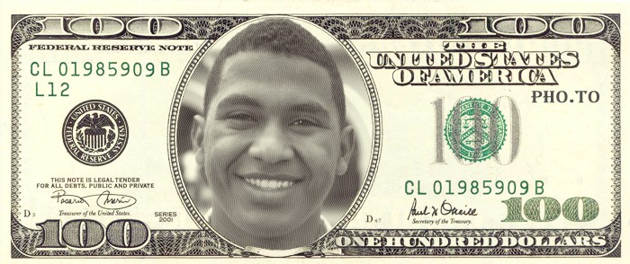 Put your face into the dollar bill online and for free