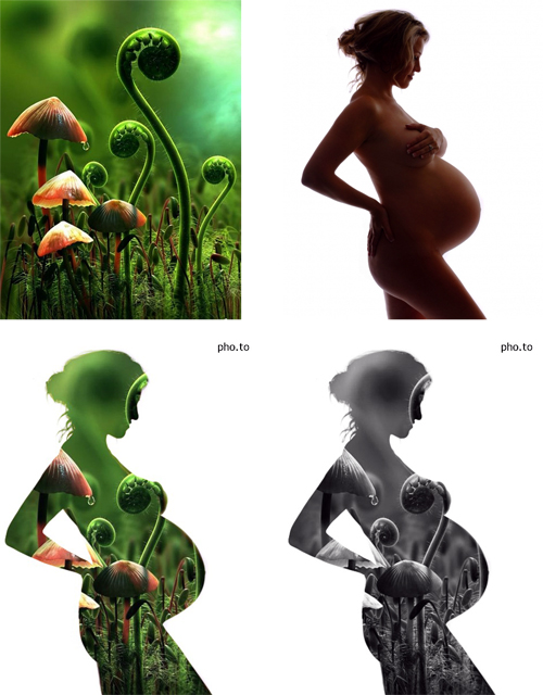 A photo that illustrates the birth of new life created with double exposure effect