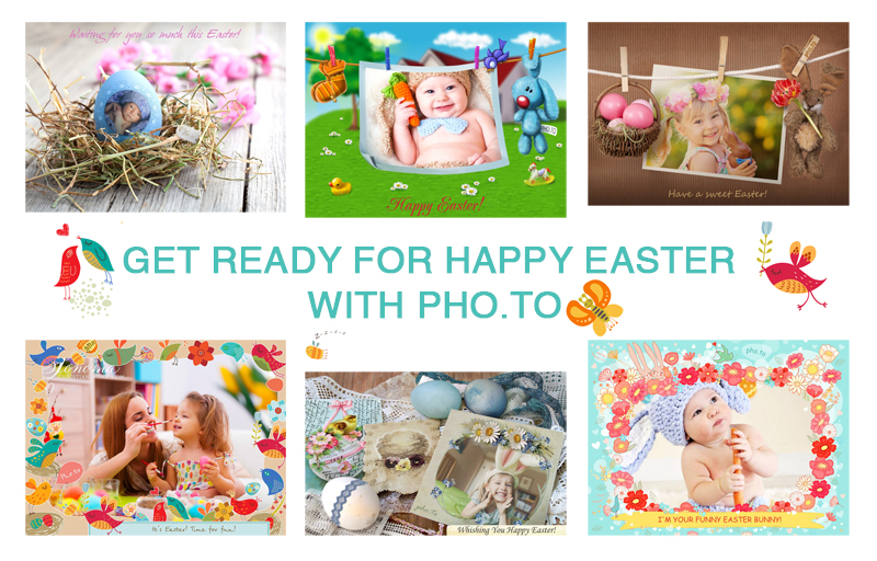 How to design cute Easter photo cards online and for free