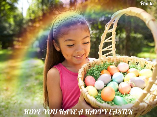 Add rainbow to holiday photos and turn them into gorgeous Easter cards