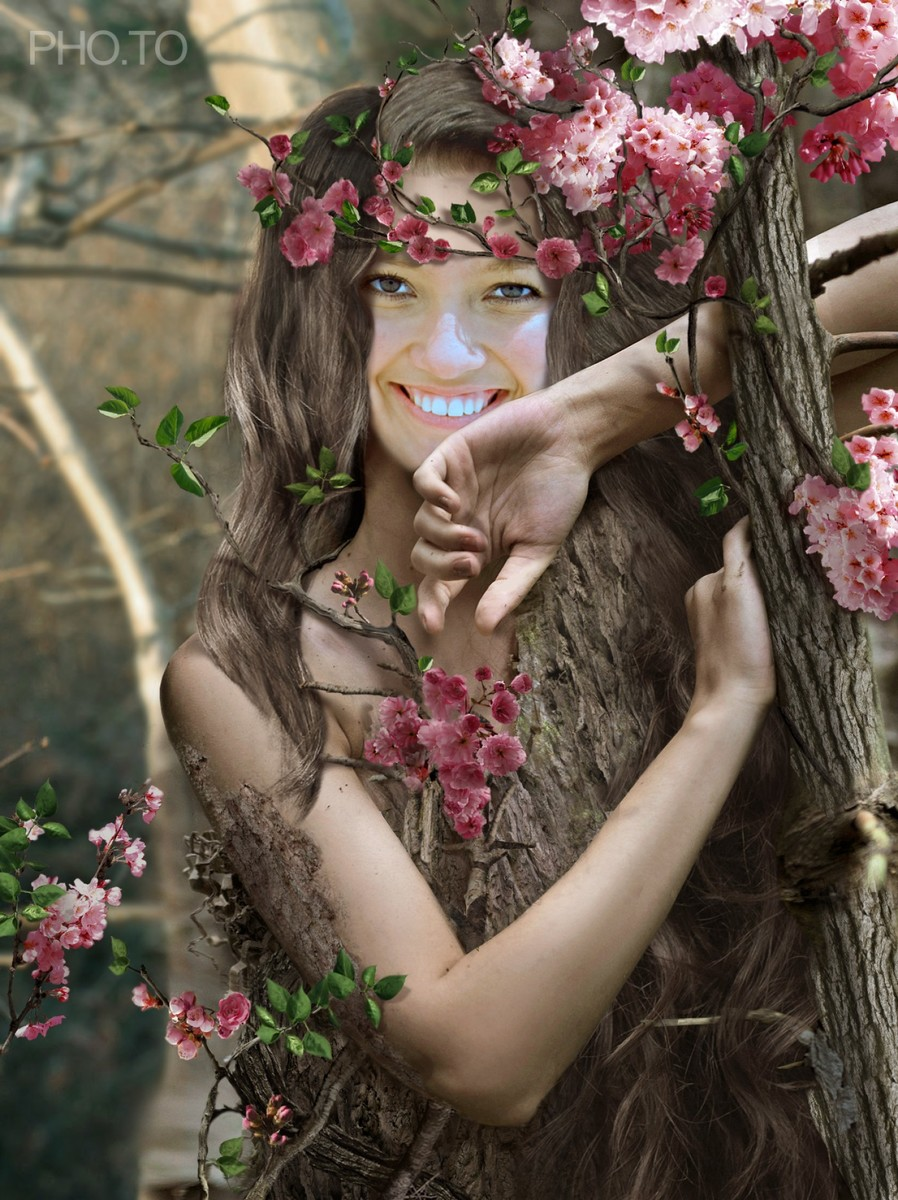 This faery template turns a girl into beautiful tree nymph