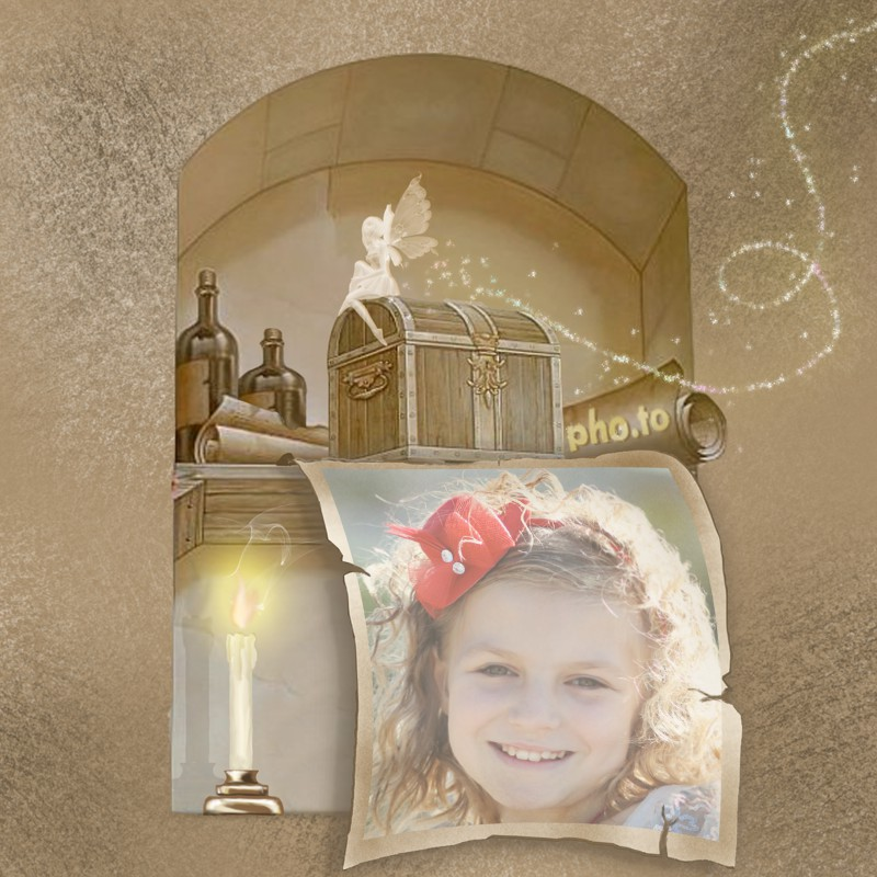 Use this fairy treasure photo frame with your kids' photos