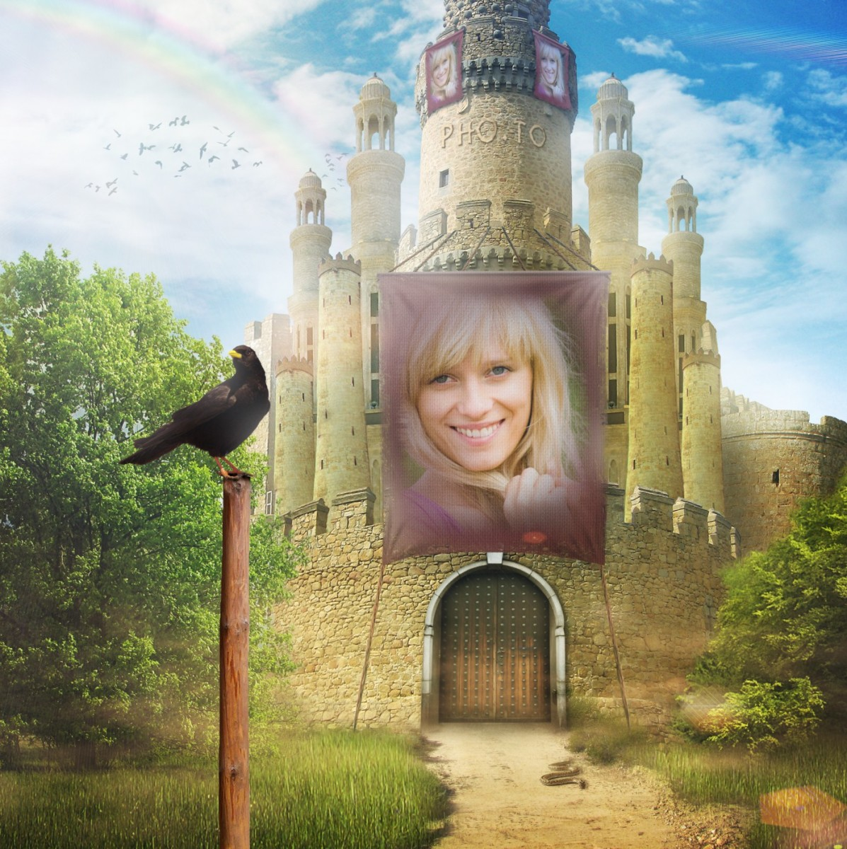 Become an owner of a magical castle with this faery photo frame