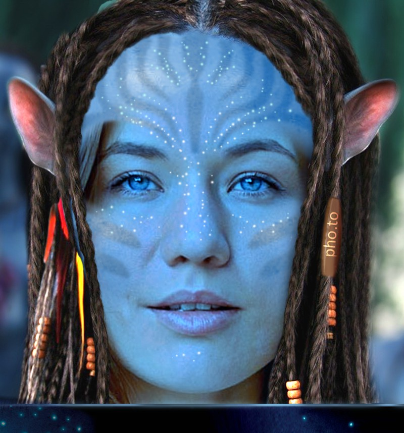 Turn yourself into a blue-skinned Navi, character from Avatar movie