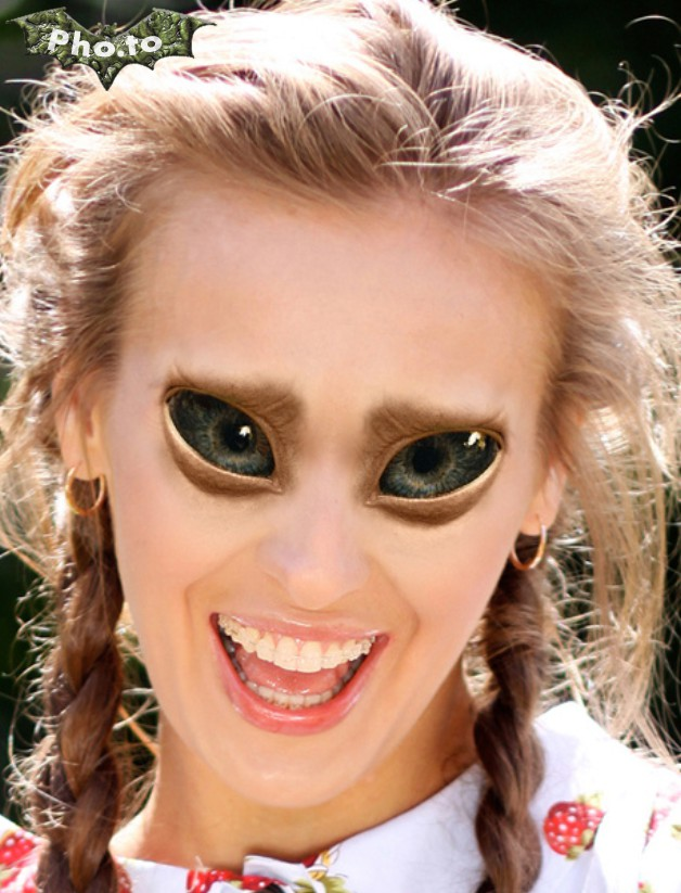 Turn yourself into an alien with this funny photo editor