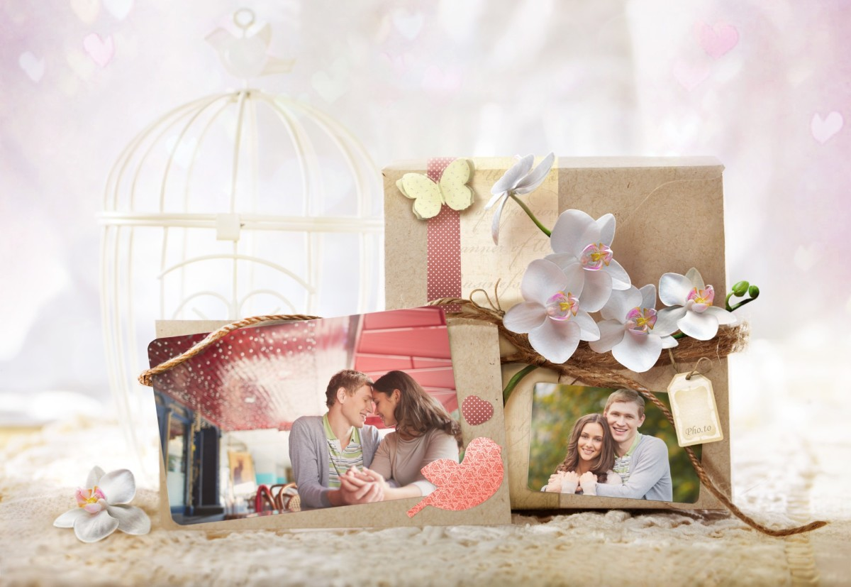 Love couple photo frame for February 14