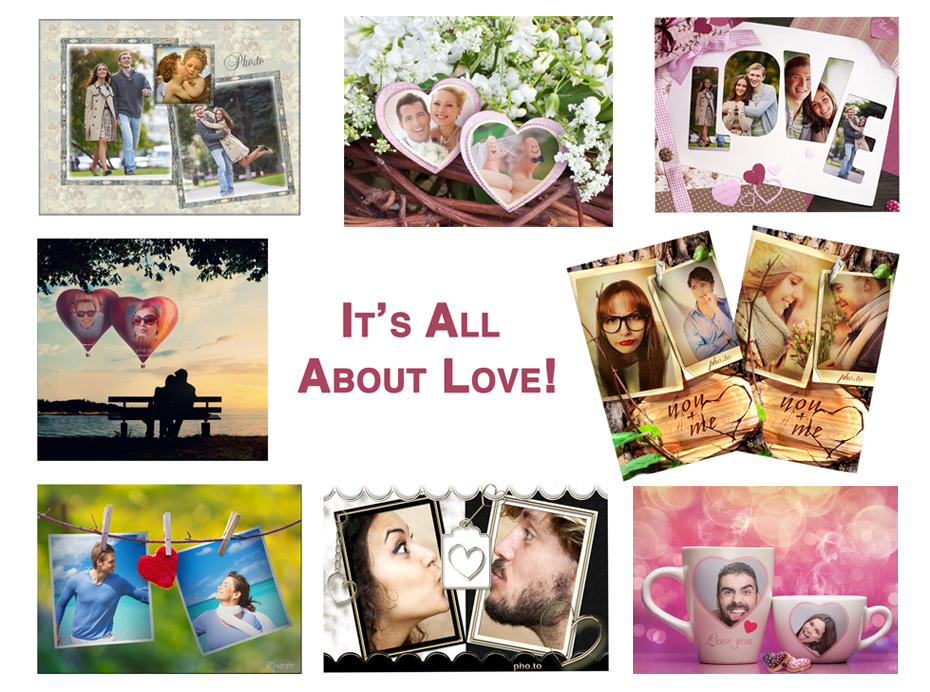 Couple photo frames and romantic photo effects for all who are in love on February 14, 2015