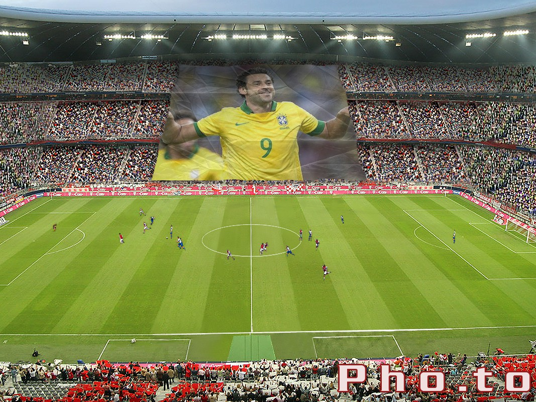 A huge poster with Damian Mori  is shown by his fans at football championship