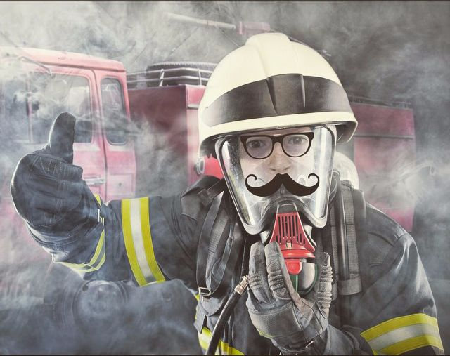 Free online fireman face photo montage