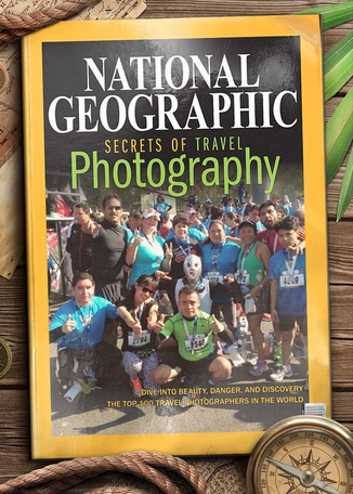 A fake National geographic cover used to make this amusing photo montage