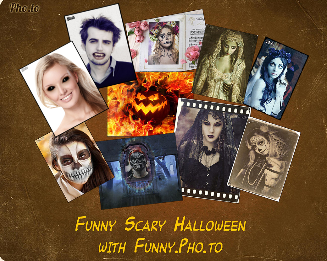 Funny and scary Halloween photo effects and frame online from Pho.to