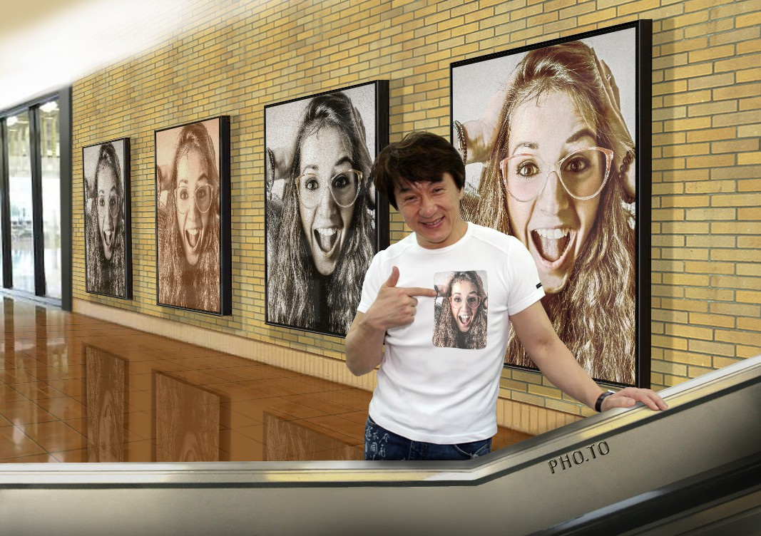 This funny effect lets you get on Jackie Chan's T-shirt