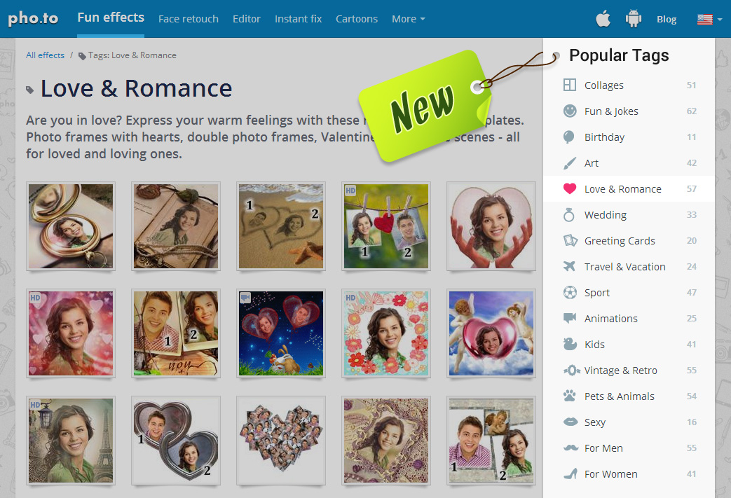 Website with photo editing effects gets a new look