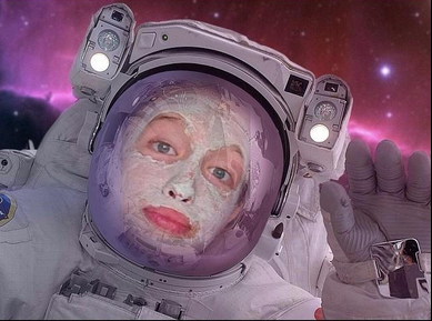 Become an astronaut in space suit with this face photo montage