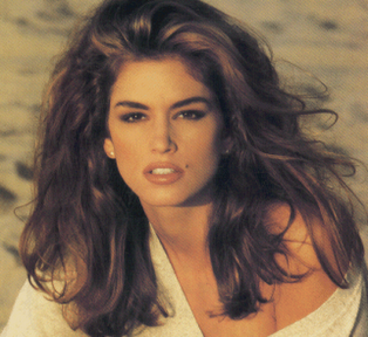 Photo of a young Cindy Crawford