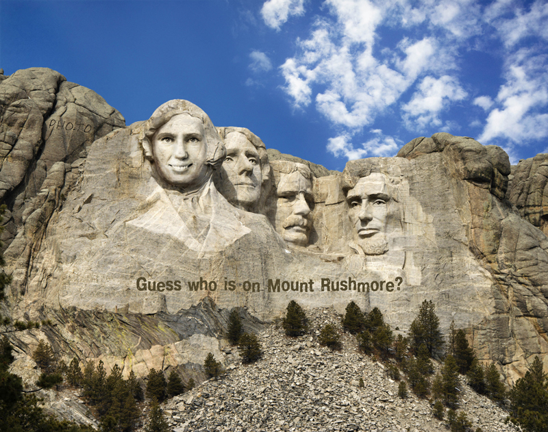Carve your portrait in the Mount Rushmore with our free face photo montage