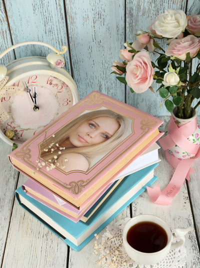Place your your photo into a still-life photo frame in vintage style