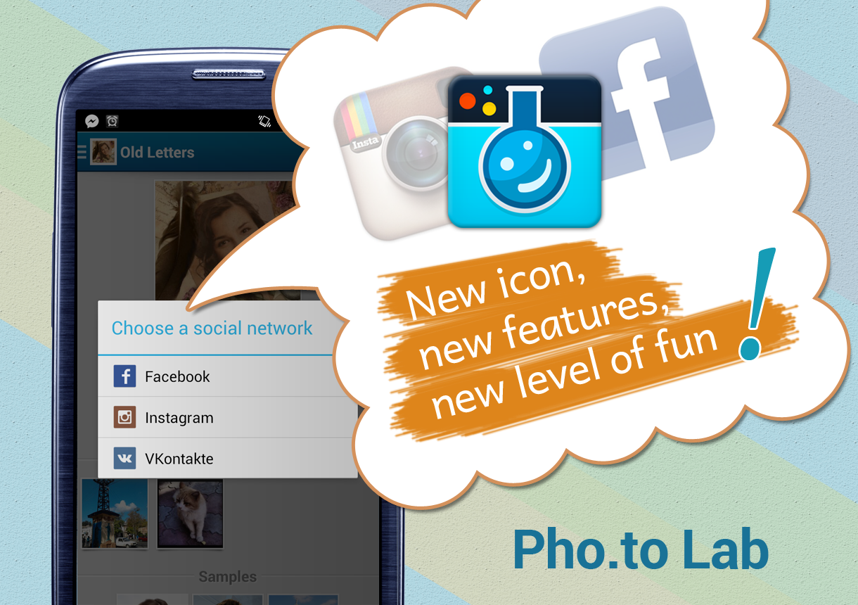 Promo banner showing the new icon of Pho.to Lab