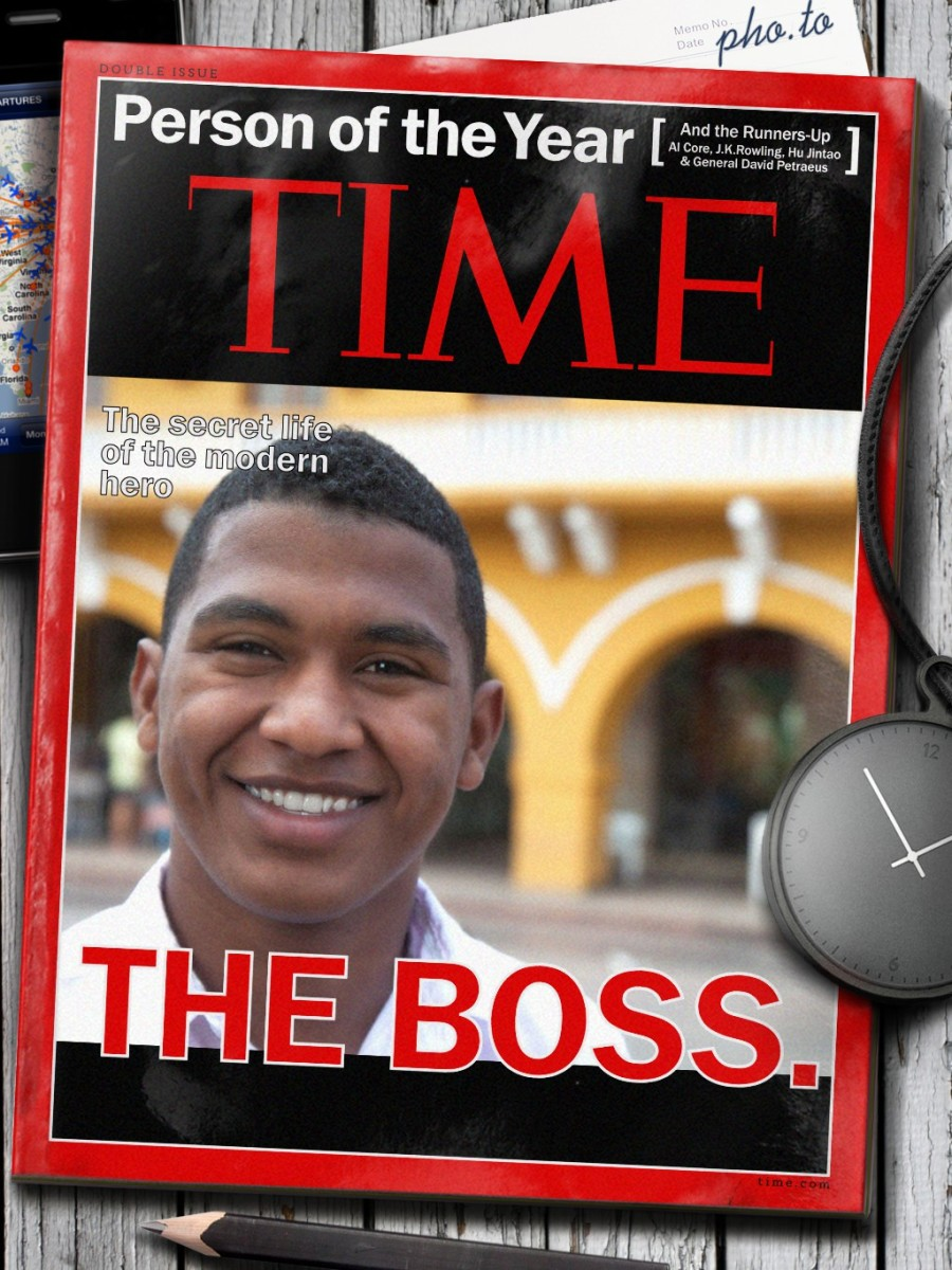 Fake cover for Time magazine: place your photo and become the the person of the year
