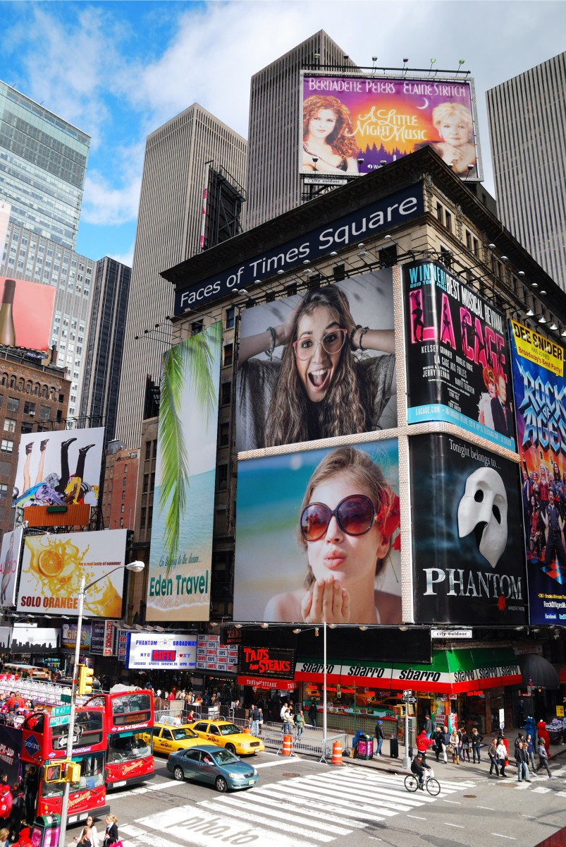 A Times Square photo frame which places your photos on the wall of huge New York skyscrapers