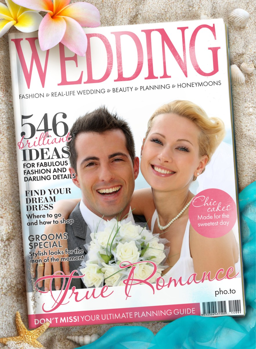 A fake Wedding magazine cover for all newlyweds