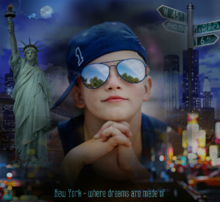 change your photo's background to New York views