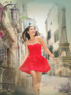 Paris photo background for romantic souls