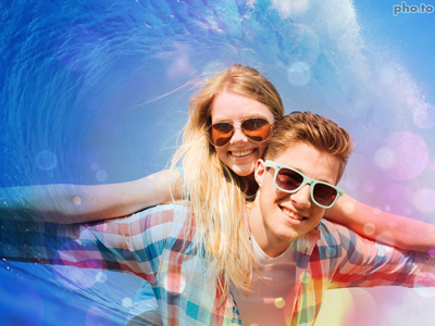 Summer photo background with ocean waves