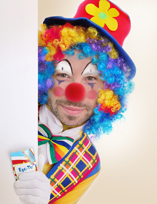 Make a photo joke for your friends with clown face montage