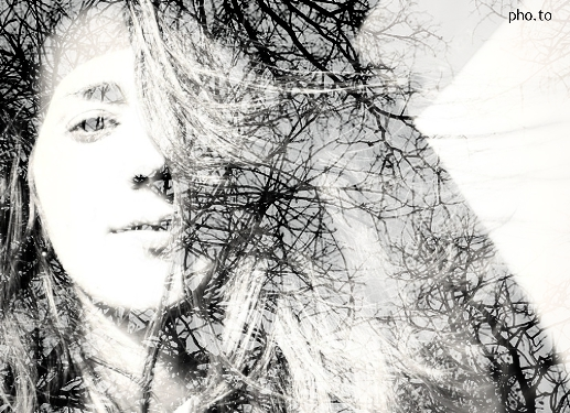 Blend two photos to make beautiful double exposure pics