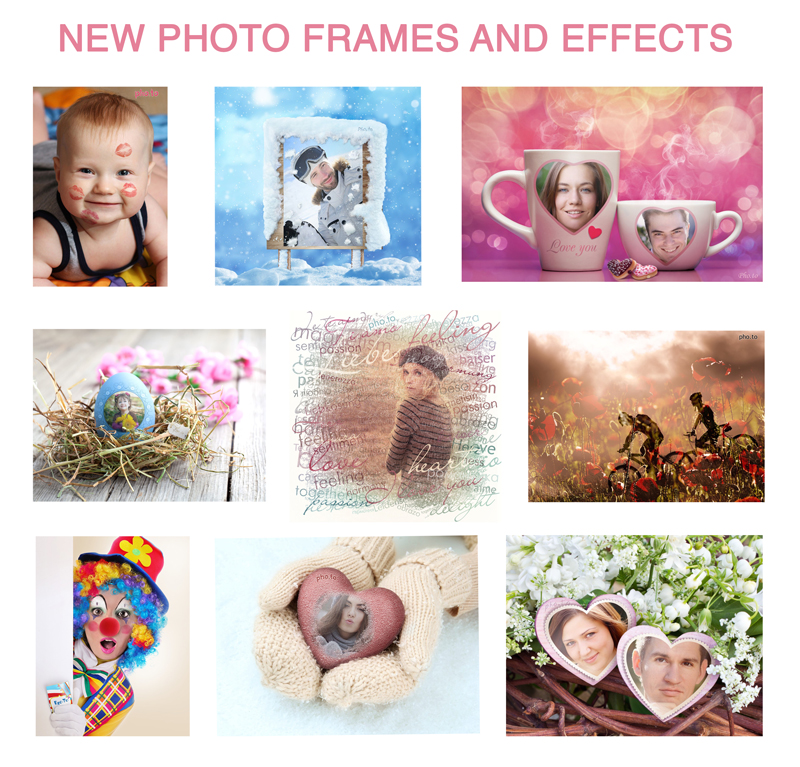 New couple frames, photo frames and artistic effects on Funny.Pho.to