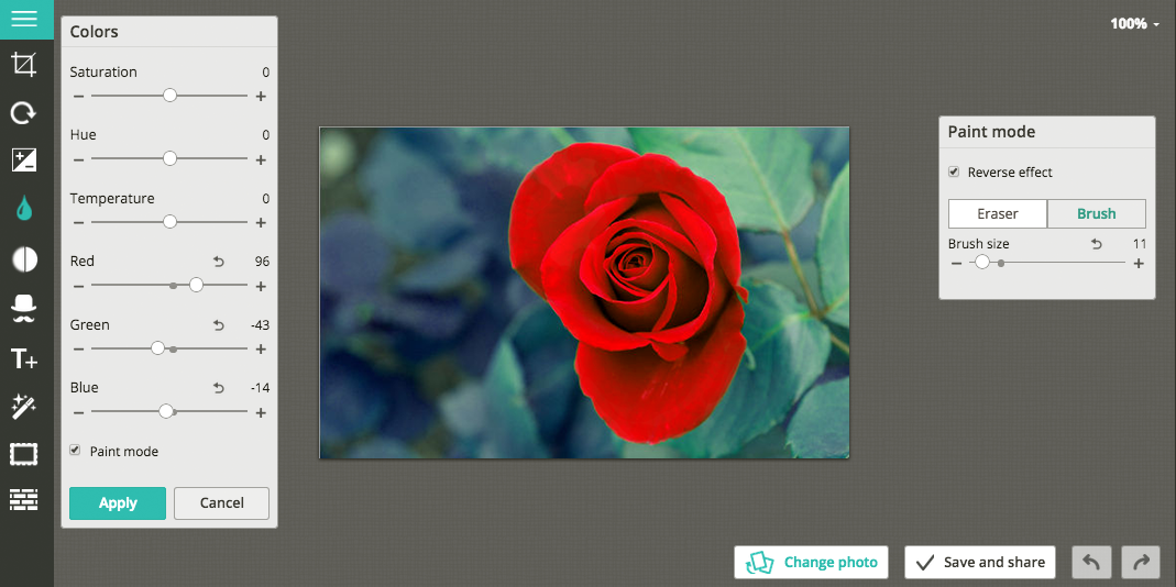 How to enhance colors on photo with free online photo editor