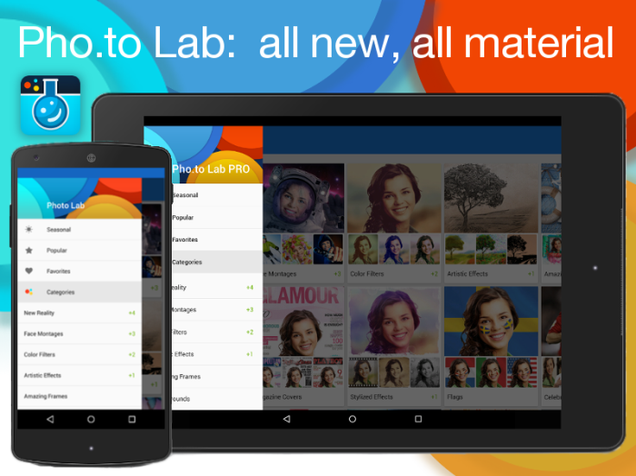 Meet Photo Lab app for Android in totally new material design